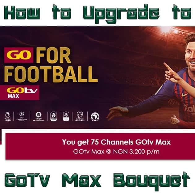 how to upgrade to gotv max