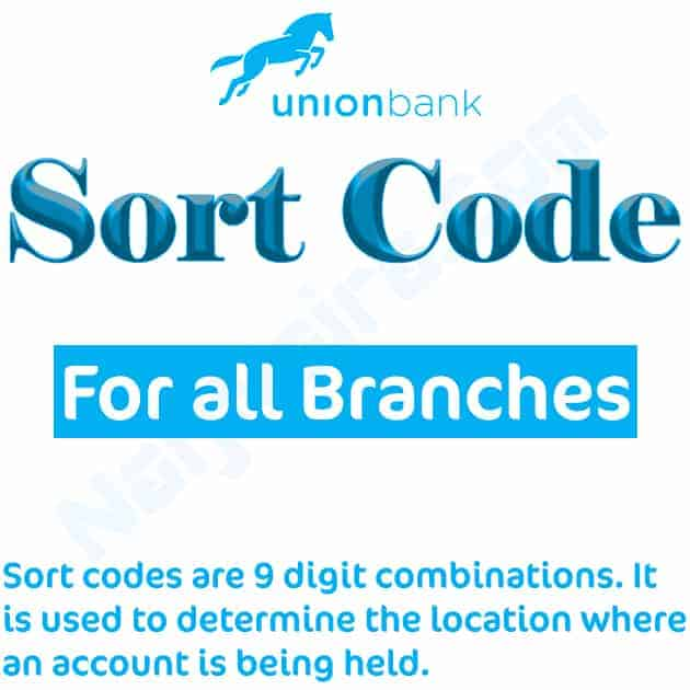 union bank sort code