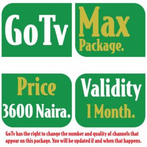 GoTv Max Channels List and Subscription Price in Nigeria 2021