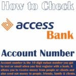 how to know access bank account number