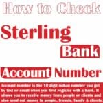 how to know sterling bank account number