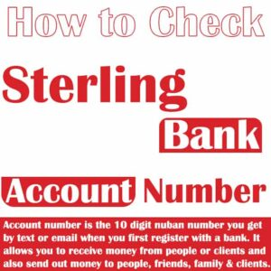 How to Check Sterling Bank Account Number ~ Top 6 Methods