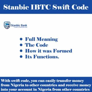 Stanbic IBTC Swift Code for all Branches