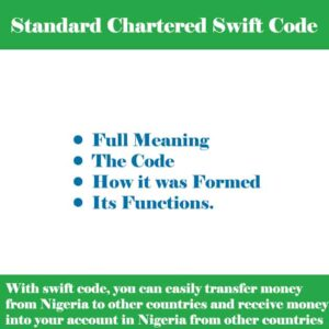Standard Chartered Bank Swift Code for all Branches