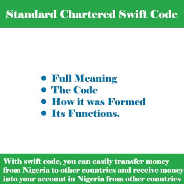 standard chartered bank swift code