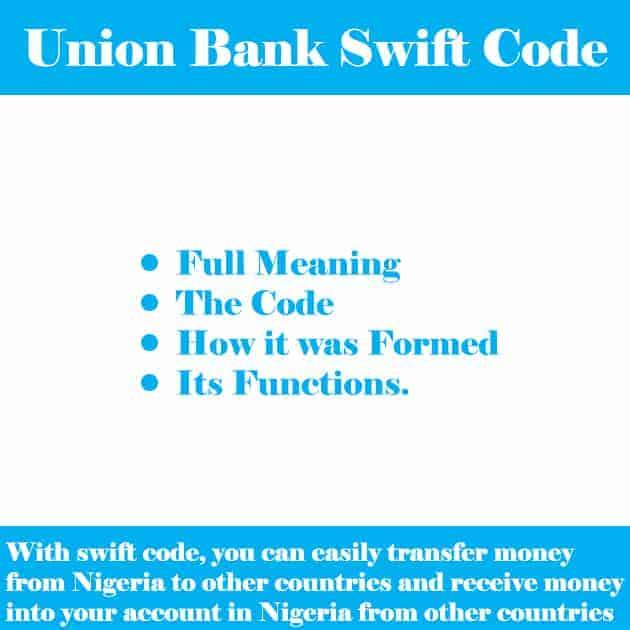 union bank swift code