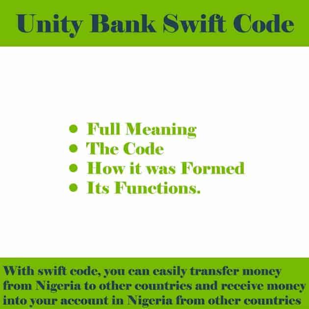 unity bank swift code