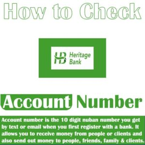 How to Check Heritage Bank Account Number ~ Code & 5 Other Ways