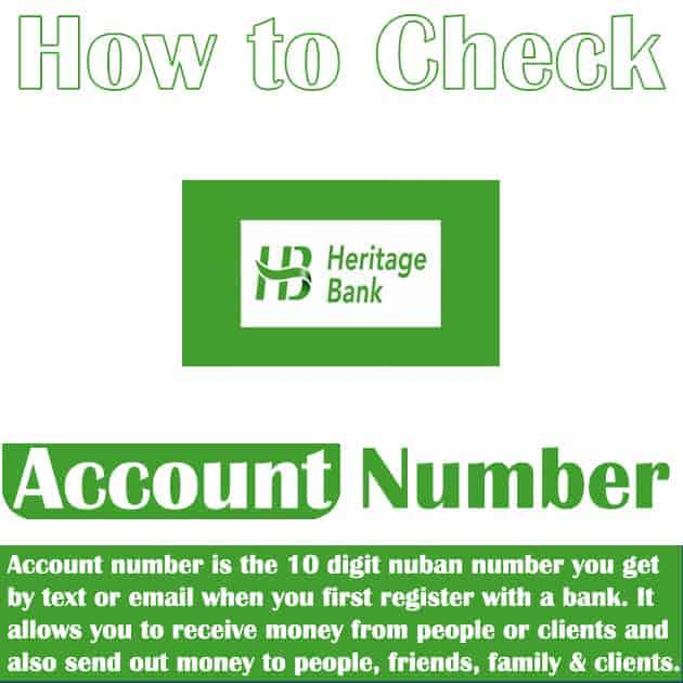 how to know heritage bank account number
