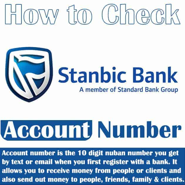 how to know stanbic ibtc account number